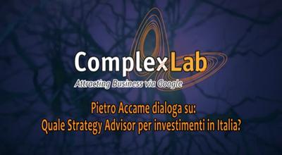 VIDEO - Investire in Italia conviene: intervista a Pietro Accame sul ruolo dello Strategy Advisor