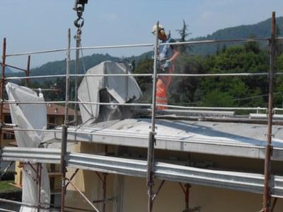 Tep, opere di taglio cemento armato per recupero del sottotetto