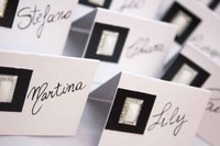 Tablescapes ideas: name cards are a good idea not only for weeding but for events in general.