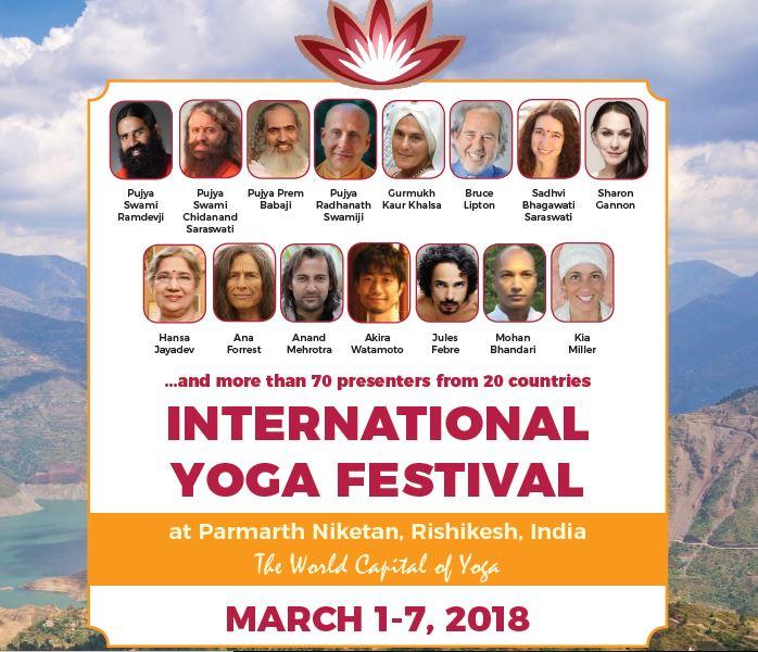 International Yoga Festival 2018 - speakers
