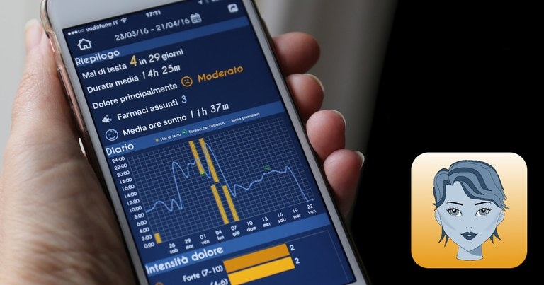 HEADAPP: la tua app / diario del mal di testa per monitorare gli attacchi e scoprire le cause