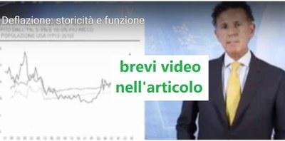 Deflazione,  cos'è:  definizione, significato e opportunità  - con  brevi Video