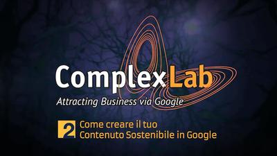 ComplexLab Academy: COME CREARE il Tuo Contenuto Sostenibile in ComplexLab